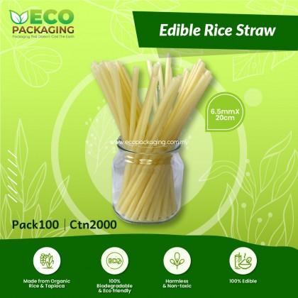 Edible Rice Straw 6.5mmX20cm - PACK100/2000CTN