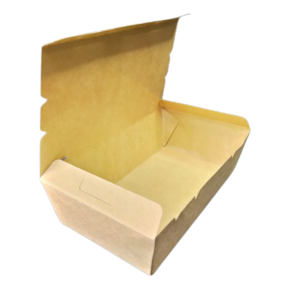 (M) 700ml  Brown Paper Lunch Box W/Self Lock (50PCS X 12PACK) - PACK50/CTN600
